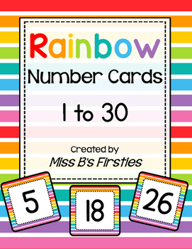 Rainbow Number Cards