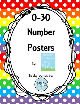 Rainbow Number Posters 0-30