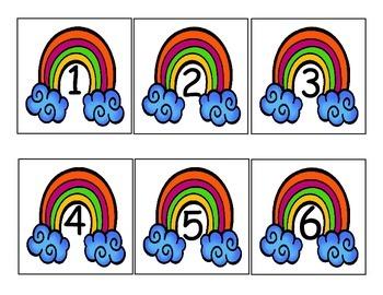 Rainbow Number/Calendar Cards
