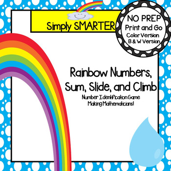 Rainbow Numbers, Slide, and Climb:  NO PREP Number Identif