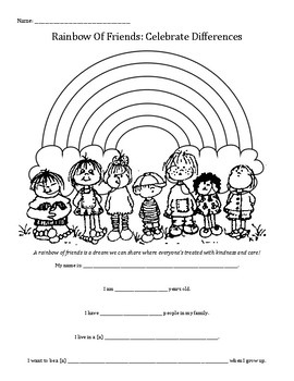 Rainbow Of Friends: Celebrate Differences worksheet
