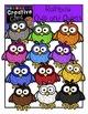Rainbow Owls and Owlets {Creative Clips Digital Clipart}