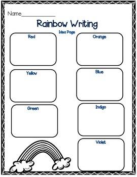 Rainbow Poem: Writing Freebie
