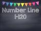 Rainbow Polka Dot Chalkboard Number Line