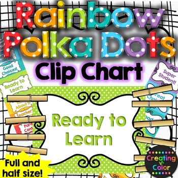 Rainbow Polka Dots Behavior Clip Chart