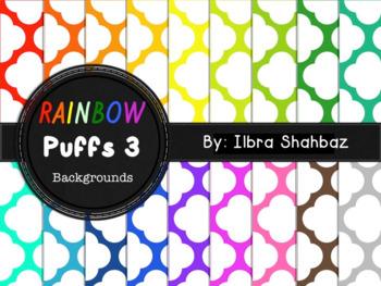 Rainbow Puffs 3 Digital Paper Backgrounds