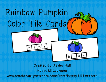 Rainbow Pumpkin Tile Cards