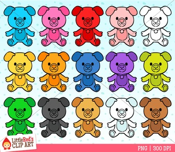 Rainbow Puppies Counter Clipart