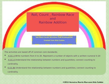 Rainbow Races: Math Centers and Activities