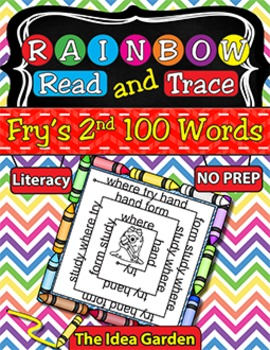 Rainbow Read and Trace - Fry's 2nd 100 Sight Words