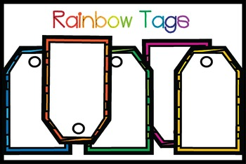 Rainbow Rectangle Tags {Freebie!}