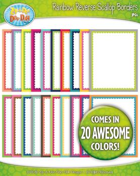 Rainbow Reverse Scallop Borders — Basic Bundle Pack (20 Co