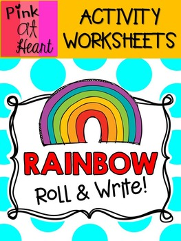 Rainbow Roll and Write Activity FREEBIE