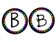 Rainbow Scalloped Circle Letters