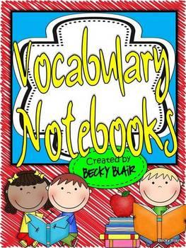 Rainbow Scribble Vocabulary Notebooks
