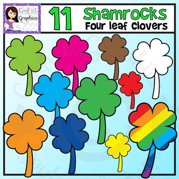 Rainbow Shamrocks / 4 Leaf Clovers / St. Patrick's Day / M