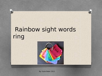 Rainbow Sight Words Ring