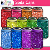 """Rainbow Soda Can Clip Art {Great for """"I Can"""" Statements, H"""