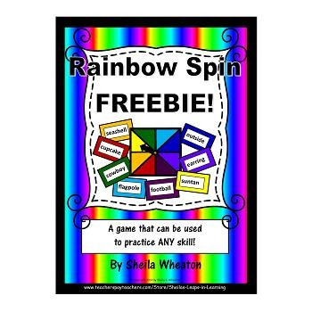 Rainbow Spin FREEBIE:  A fun game that can be used to prac