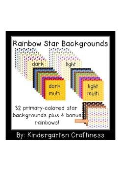 Rainbow Stars Backgrounds