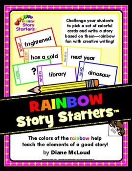Rainbow Story Starters Creative Writing Activity