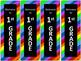 Rainbow Stripe Back to School Bookmarks