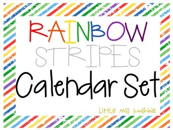 Rainbow Stripe Calendar Set