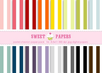 Rainbow Stripes Digital Paper Pack - by Sweet Papers