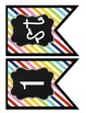 Rainbow Stripes Welcome Banner