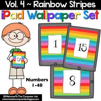 Rainbow Stripes iPad Wallpaper Set
