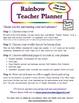 Rainbow Teacher Planner