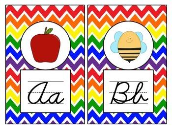 Rainbow Theme Alphabet Mini Posters