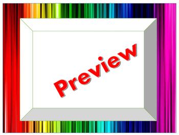 Rainbow Themed Borders (JPEG)