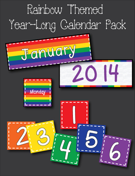 Primary Colors Calendar Pack