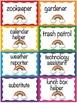 Rainbow Themed Classroom Decorations: Classroom Cards