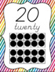Rainbow Stripe Number Posters with Ten-Frames