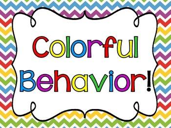 Rainbow Themed Clip Chart