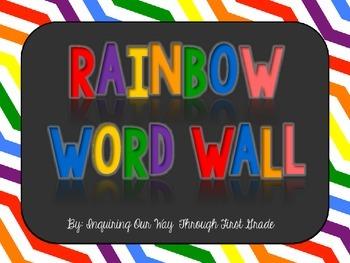 Rainbow Themed Word Wall Alphabet Cards