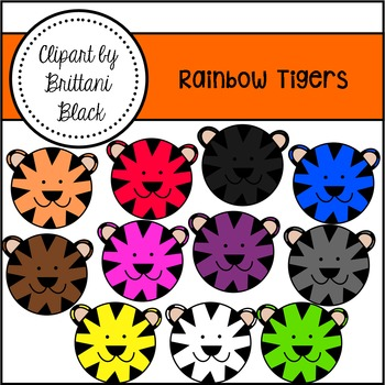 Rainbow Tigers Clipart