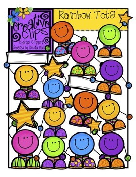 Rainbow Tots {Creative Clips Digital Clipart}