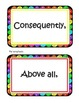 Rainbow Transitional Words and Phrases Flashcards  for 4th