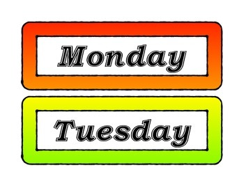 Rainbow Week days