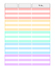 Rainbow Weekly Planner 5 Subject