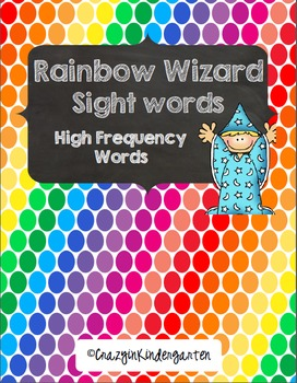 Rainbow Wizard Sight Words & Brag Tags