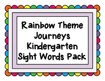 Rainbow Word Wall K Sight Words Pack
