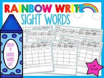 Rainbow Write Sight Words *1st Grade*