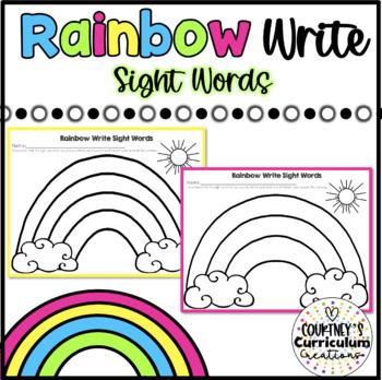 Rainbow Write Sight Words- FREEBIE