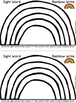 Rainbow Write the Sight Word - PROGRAMMABLE Center activit