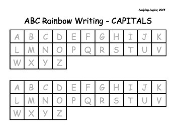 Rainbow Writing - ABCs - CAPITAL LETTERS