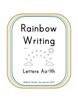 Rainbow Writing Aa-Hh